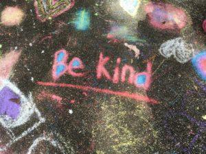 kindness, chalk, handwritten